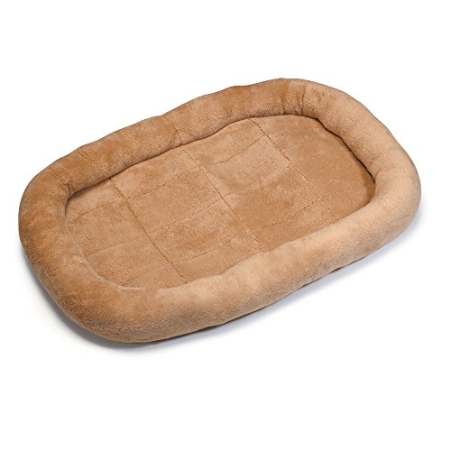 Slumber Pet Oval Bed (Slumber Pet Comfy Crate Pet Beds  -  Ultra-Soft Beds for Dogs and Cats - Medium, Tan)