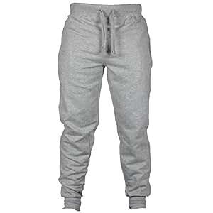 WWricotta LuckyGirls Pantalones para Hombre Casuales Sueltos Cintura  Elástica Deporte Pantalón de Jogging Slim Fit Gimnasio Chándal de Lazo   Amazon.es  ... 4b92efce934e0