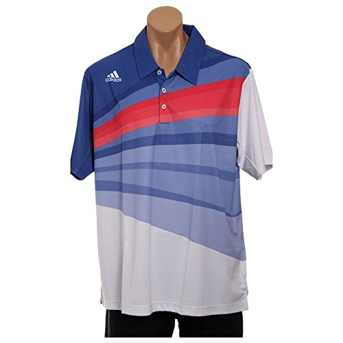 Price comparison product image ADIDAS 2013 TPC (The Players Championship at Sawgrass) Climalite s / s print polo (Lg,  White / Blueberry)