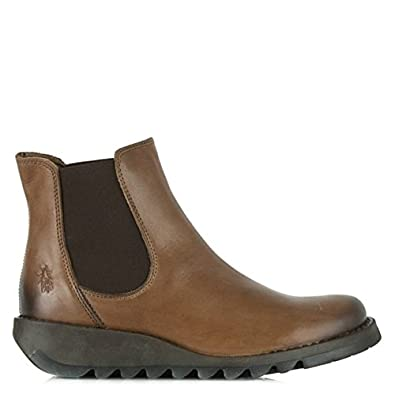 Fly London Salv Camel Womens Chelsea Boot 40 Tan Leather