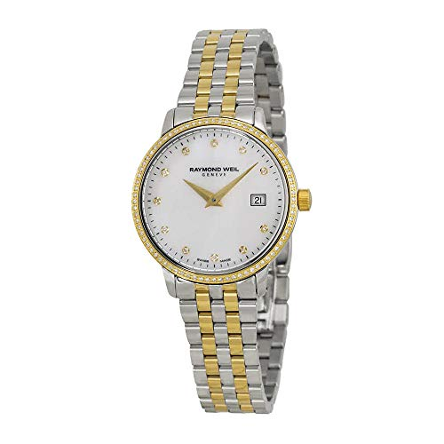 Raymond Weil Toccata White Mother of Pearl Dial Steel Ladies Watch 5988-SPS-97081