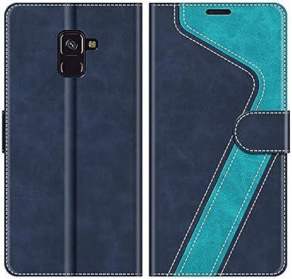 MOBESV Funda para Samsung Galaxy A8 2018, Funda Libro Samsung A8 2018, Funda Móvil Samsung Galaxy A8 2018 Magnético Carcasa para Samsung Galaxy A8 2018 Funda con Tapa, Azul: Amazon.es: Electrónica