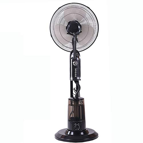Outdoor Misting Fan - 3 Cooling Speeds with High RPM, Art Deco Floor Fan, Stand with Weighted Base, Oscilating Pedestal Fan