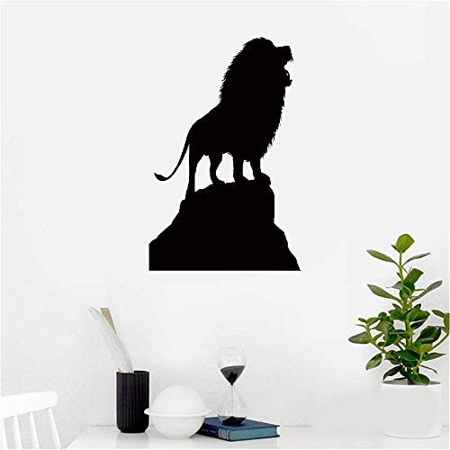 Meixug Vinyl Wall Sticker Decal Quote Home Decor African Roaring Lion King On Rock Animal Silhouette Predatorinches