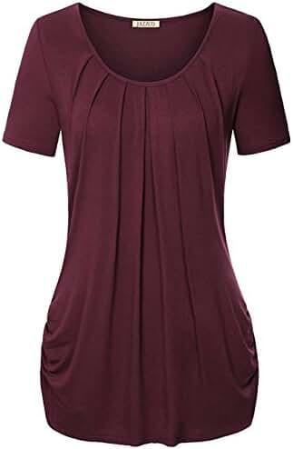 Jazzco O-Neck Short Sleeve T Shirt For Leggings For Women