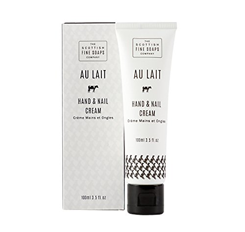 Scottish Fine Soaps Au Lait Hand & Nail Cream for Women, 3.5 Fluid Ounce