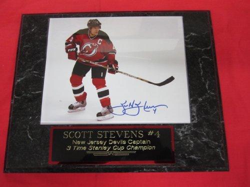 Scott Stevens New Jersey Devils Autographed 8x10 Photo Plaque - Plaque Devils New Jersey