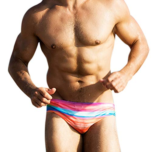 Males Printed Swimwear, Male Style Triangle Breathable Trunks Working Swimming Underwear lkoezi Sport Pants