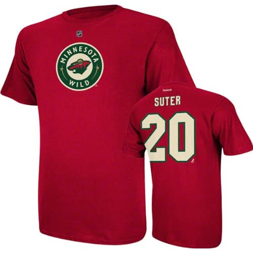 ad9d46fee Ryan Suter Minnesota Wild Red Jersey Name And Number T-Shirt good ...
