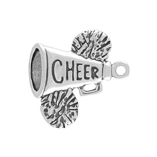Sterling Silver Cheerleading Megaphone Charm Item ()