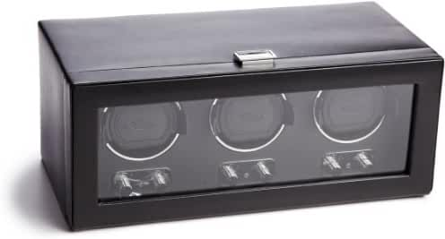WOLF 270202 Heritage Triple Watch Winder with Cover