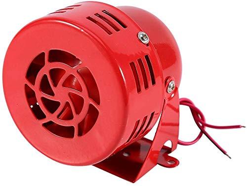 Horn Loud 12V 110dB Electric Car Truck Motorcycle Driven Brake Motor Air Raid Siren Horn Alarm Loud 50s Red