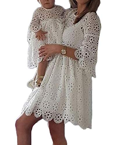 Mother Daughter Matching Dress Mommy and Me Lace