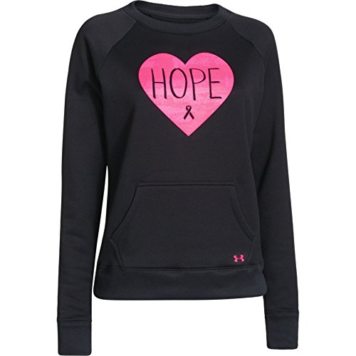 UPC 888284201395, Women's Under Armour Power In Pink Armour Fleece Hope Crew Black/Pink Size X-Small