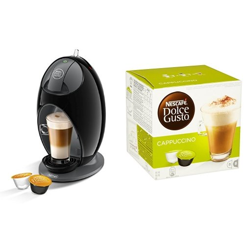 Nescafé Dolce Gusto Coffee Machine Jovia Manual Coffee with Gusto Cafe Au Lait - Pack of 3 (Total 48 Capsules, 48 servings)