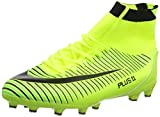 WOWEI Football Boots High Top Spike Soccer Shoes Outdoor Training Unisex Adults Big Child Sneakers,Green,4.5 UK, EU 37