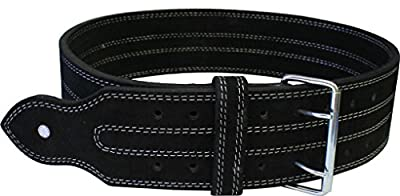"""Ader Leather Power Lifting Weight Belt- 4"""" Black by Ader Sporting Goods"""