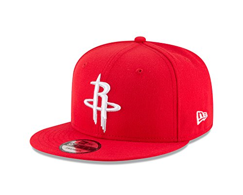 New Era NBA Houston Rockets Adult Men NBA 9Fifty Team Color Basic Snapback Cap,OSFA,Red