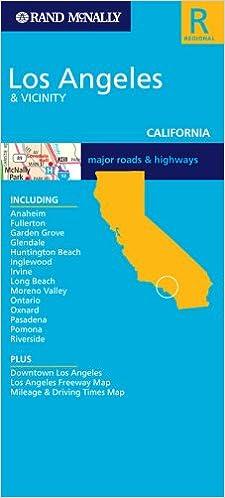 Rand Mcnally Los Angeles Vicinity California Major Roads