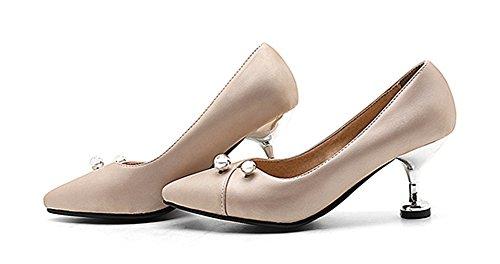Cut Toe Bridal Trendy Stiletto Dress Shoes Kitten Pointed Womens Apricot Heels Slip Low On Aisun Pumps tpwgqg