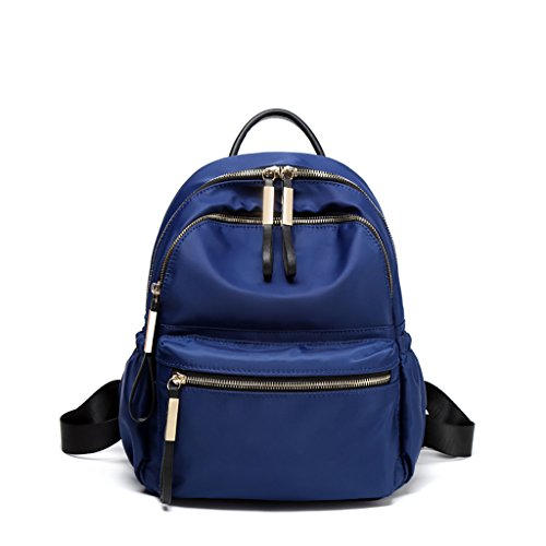 New Backpack Bag Oxford Cloth Bag Korean Trend Student Sports Shopping Bag (color: Milky White, Size: Small) Blue