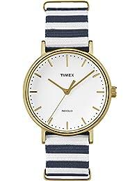 Timex TW2P91900GP Weekender Fairfield White Dial Nylon NATO Strap Watch