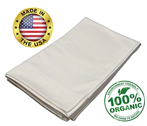 Pillow Fabric Cotton (Snuggle-Pedic Organic Cotton Body Pillow Case Kool-Flow Breathable Stretch Knit Fabric (Body))