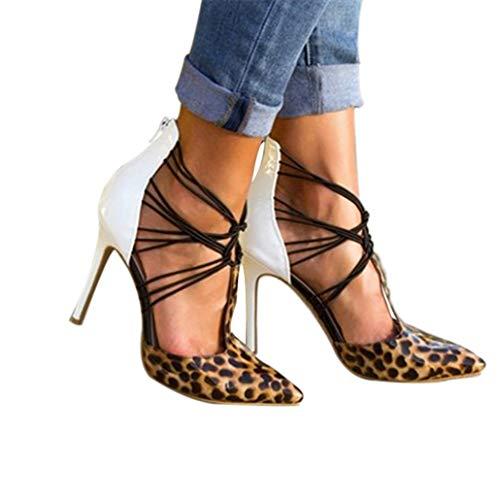 Toe Stiletto Talons Mode Sandals Crisscross Lady Hauts Chaussures Femme Pumps Strap Jaune 4jRA5L