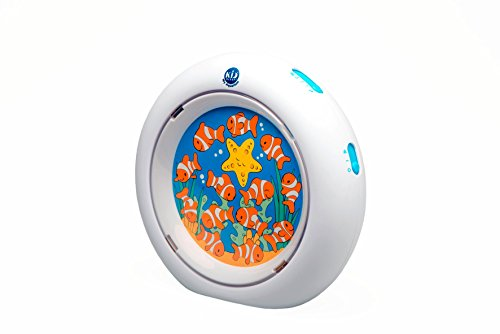 Claessens' Kids Kid'Sleep My Aquarium Animated Nightlight, White (Kids Aquarium Fish)