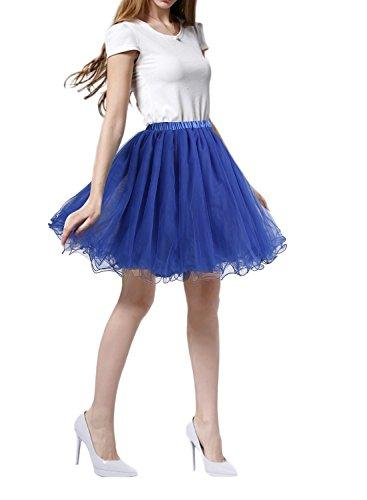 55CM Tulle Marine 4 Bleu Jupe Elastic Couches Ceinture Tutu CoutureBridal Femme Princesse RC8xzz