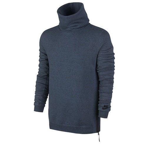 Nike Tech Fleece Men's Funnel Sweatshirt 679908-460 (2XL) Squadron Blue by NIKE