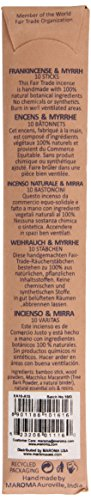 Maroma EDA Incense, Frankincense and Myrrh, 10 Count