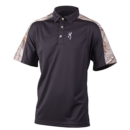Wolf S/S Polo in Black by Browning Signature Products Group