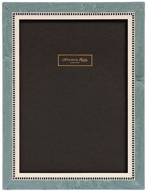 Addison Ross 8 x 10 cm Miki 20 Marquetry Inlay Wooden Photoframe Blue
