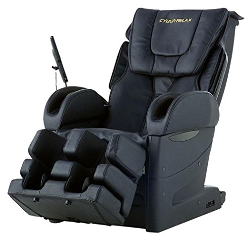 Fujiiryoki EC-3800BLACK Model EC-3800 Cyber Relax Massage Chair, Black, Reclining Angle Approx 120~170 Degrees, Rated Time 30 Minutes, 28 different Types of Massage Technique, Neck Relax