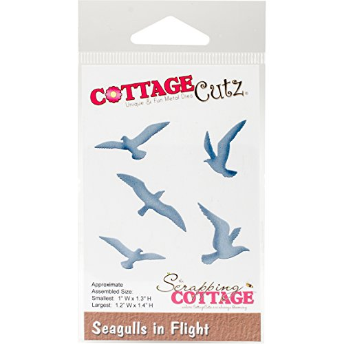 CottageCutz Die-Seagulls In Flight 1