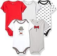Hudson Baby unisex-baby Bodysuits, 5 Pack