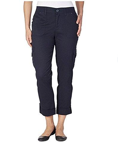 Penelope Pant - Gloria Vanderbilt Women's Penelope Convertible Roll Tab Cuff Cargo Pant (18W Average, Midnight Affair)
