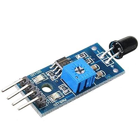 Módulo sensor de detección de llama IR 4 pines para Arduino: Amazon.es: Electrónica