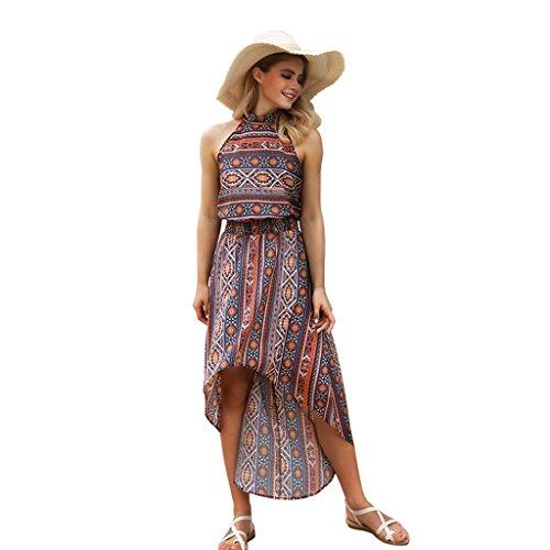 De Mujer color Seaside Verano Para xl Vestidos Retro B Sexy S Irregular Tamaño Metro Wang Print Houlder Bare C Beach Dress SaqA5InI