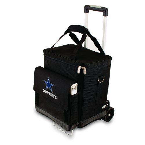 NFL Dallas Cowboys Insulated Cellar Six Bottle Wine Tote with Trolley