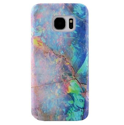 Black Marble Custom Laser (Marble Samsung Galaxy s7 EDGE Case Protective Phone Cover (Blue Opal))