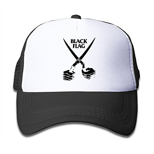 Kid's Hats Black Flag American Punk Rock Band Logo Sunscreen Trucker Hats Small Kids Cap