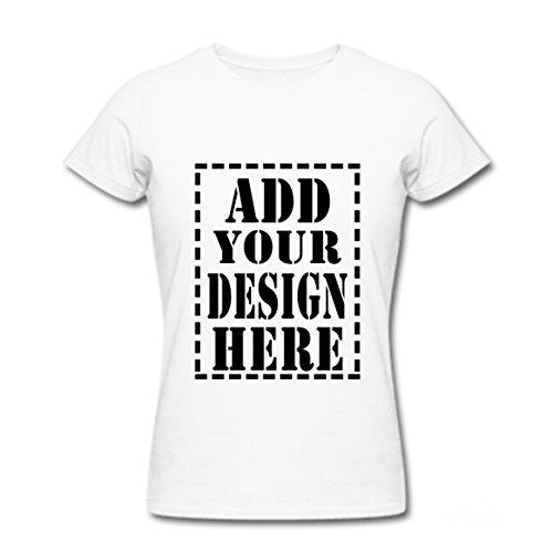 Shop&Three Womens Custom Short Sleeve Fashion T-Shirt White