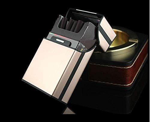 Pour Magnétique Boucle Étui Brossé Alliage Cigarettes En D'aluminium Avec À Métal 8w0v8qxR