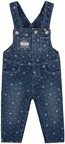 لباس های جین دخترانه لوی ، قلبهای بادی آبی ، 24M