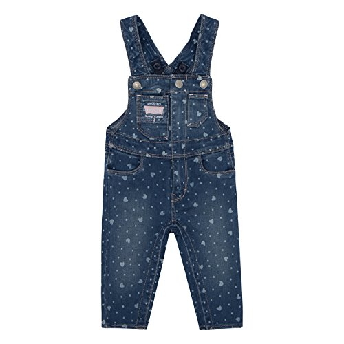 Levi's Baby Girls' Denim Overalls, Blue Winds Hearts, -