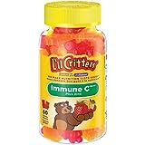 L'il Critters Immune C Plus Zinc Gummy Vitamins, Naturally Sourced Colours & Flavours, 60 Count