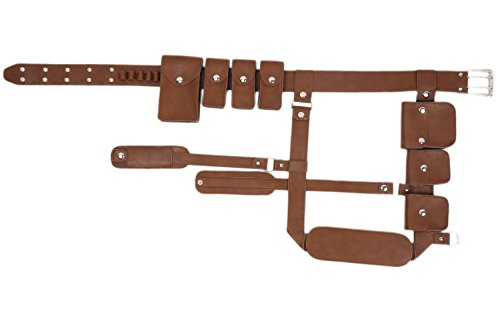 Pluscraft Sole Survivor Cosplay Belt Brown PU Leather Strap Game Costume Props]()