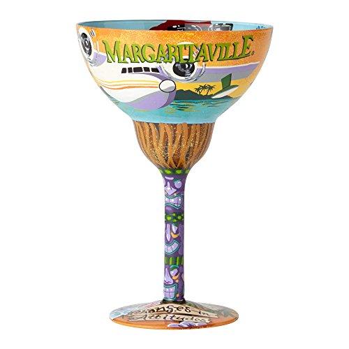 (Enesco Designs by Lolita Margaritaville Artisan-blown Glass Margarita Glass, 12 oz.)